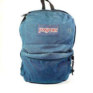 Vintage Blue Canvas Jansport Backpack Bookbag